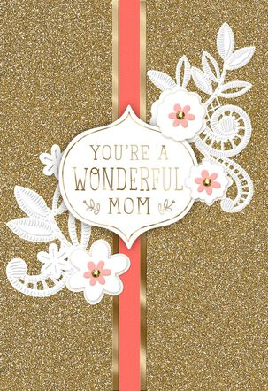 Glitter and Flowers Mother's Day Card