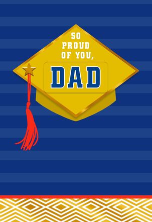Cap and Tassel Proud of You Pick-a-Title Graduation Card
