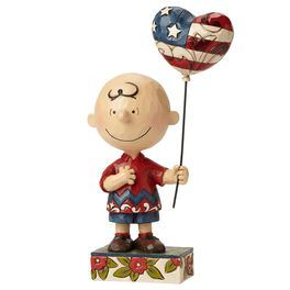 Jim Shore Allegiance—Patriotic Charlie Brown Figurine, , large