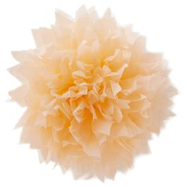 "Peach Tissue Paper Flower Pom Pom Gift Bow, 5"", , large"