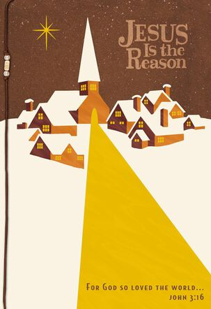 Jesus Is the Reason Religious Christmas Card