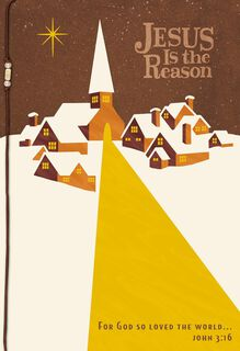 Jesus Is the Reason Religious Christmas Card,