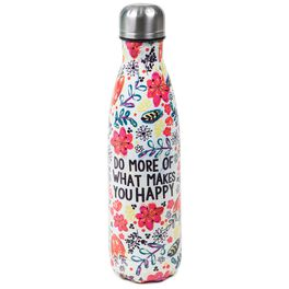 Natural Life Happy Double Wall Water Bottle, , large