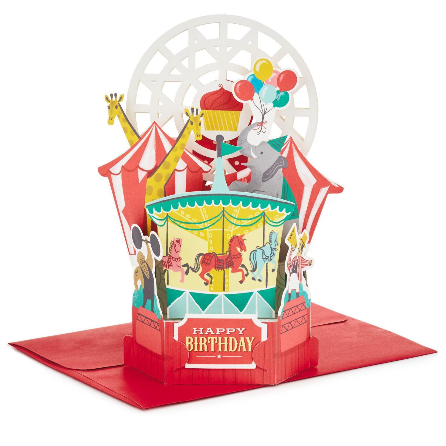 Circus Pop Up Birthday Card Greeting Cards Hallmark