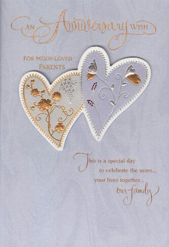 Two hearts anniversary card for parents greeting cards hallmark two hearts anniversary card for parents m4hsunfo