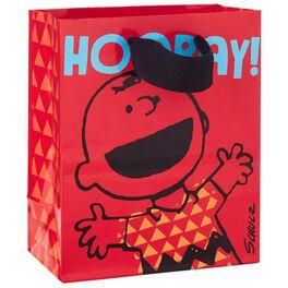 "Peanuts® Charlie Brown Hooray Small Gift Bag, 6.5"", , large"