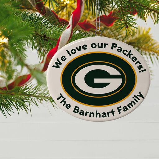 70ac5e219 ... NFL Football Green Bay Packers Ceramic Personalized Ornament