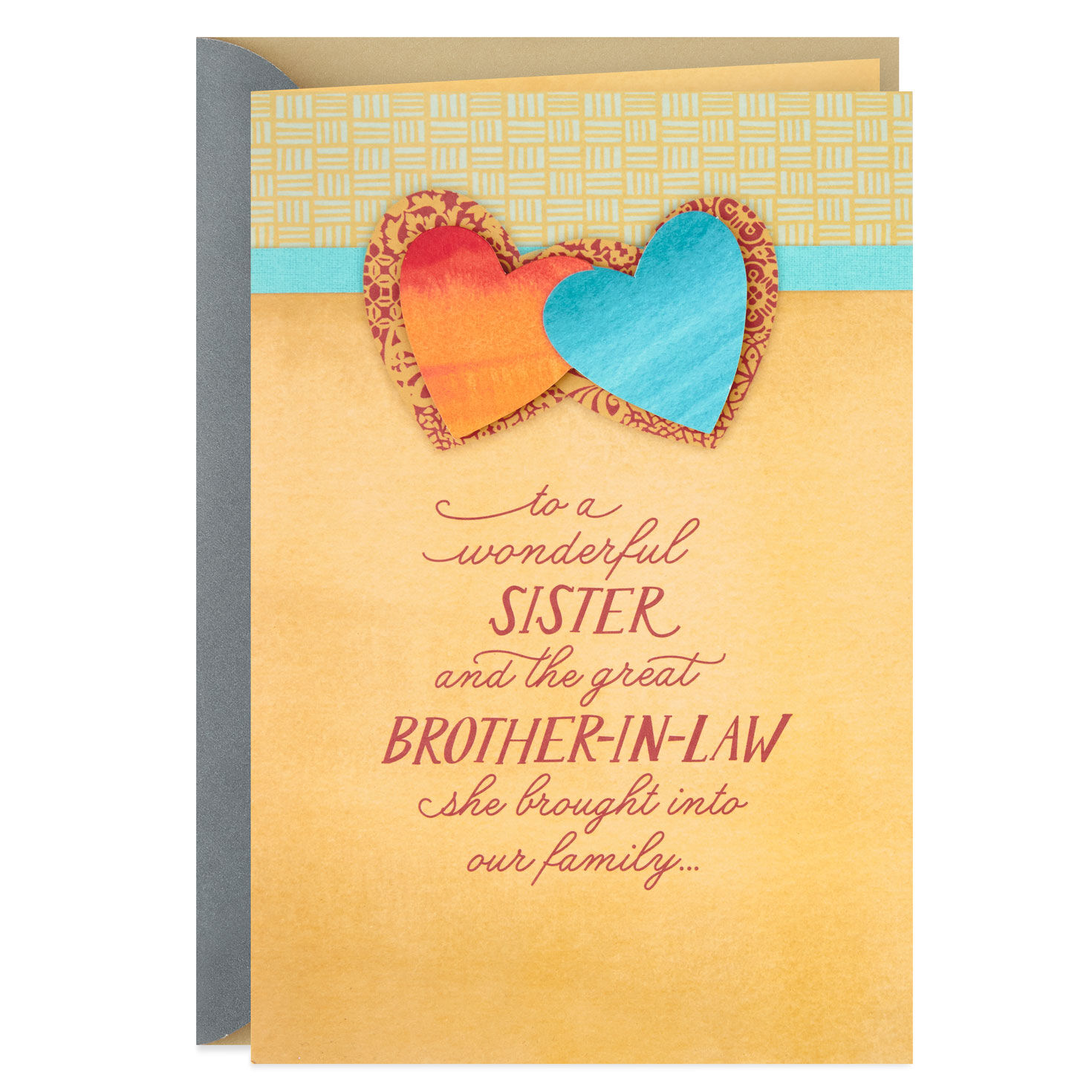 Anniversary Card ~ Sister /& Brother in Law Anniversary Card