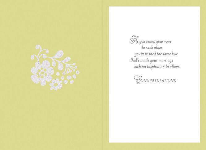 renewing vows wedding card