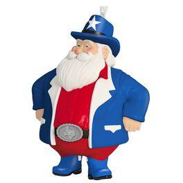 Texas Cowboy Santa Ornament, , large