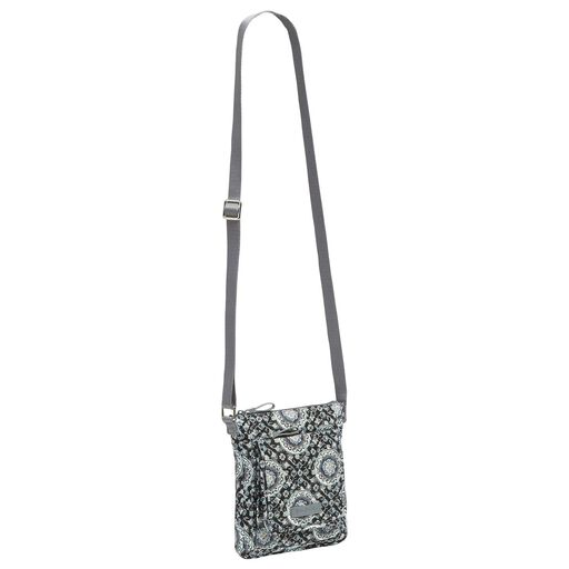 ... Vera Bradley Iconic RFID Mini Hipster in Charcoal Medallion, 8291bfef6c