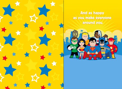 Justice League™ As Adventurous As You Musical Birthday Card,