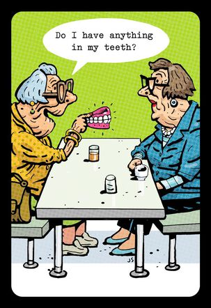 Denture Adventure Funny Birthday Card