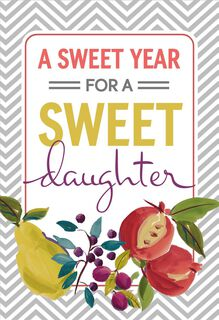 Here's to a Sweet Year Rosh Hashanah Card for Daughter,