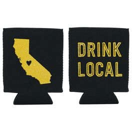 "California State Silhouette ""Drink Local"" Koozie, , large"