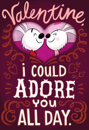 Snuggling Rabbits Suggestive Valentine's Day Card