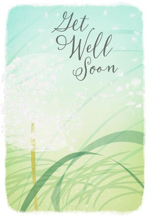Wishing You Blue Skies Get Well Card