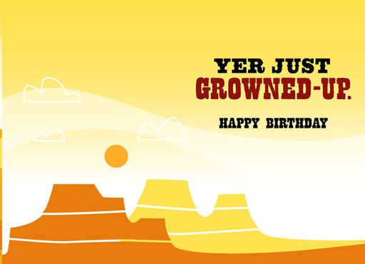 Yer Not Old Yosemite Sam Birthday Card,