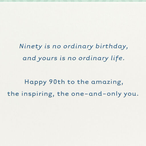 Green And Blue 90th Birthday Card