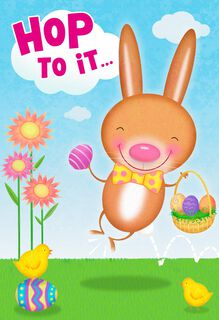 Hip Hop Bunny Musical Easter Card,