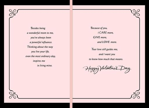 Because of You, Mama Valentine's Day Card,
