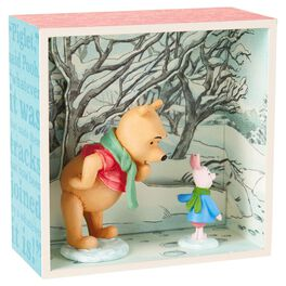Winnie the Pooh and Piglet in Snow Shadow Box, , large