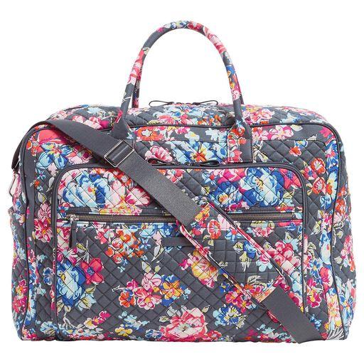 2a6190e5a ... Vera Bradley Iconic Grand Weekender Travel Bag in Pretty Posies,