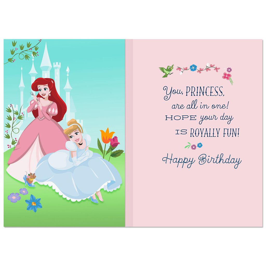 Disney Princesses Royally Fun Musical Birthday Card