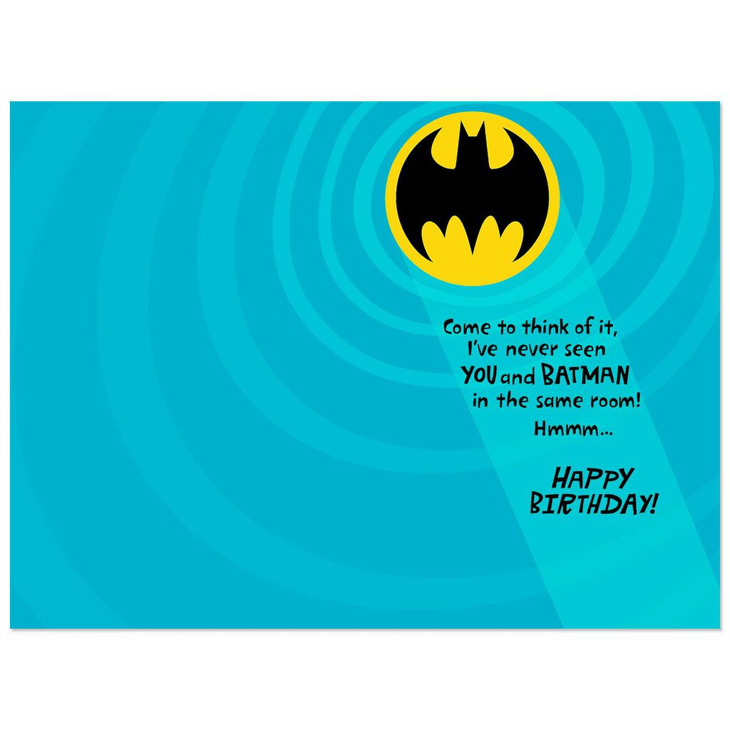 DC ComicsTM BatmanTM Secret Identity Birthday Card For Grandson