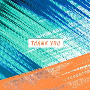Colorful Brush Strokes Thank You Card