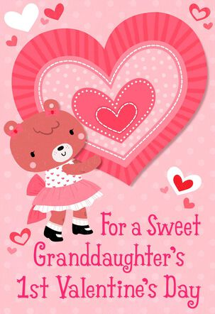 Granddaughter First Valentine's Day Card
