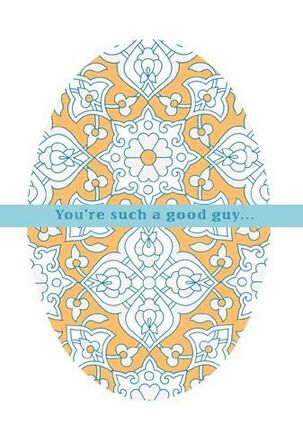 You're a Good Guy, Grandson Easter Card