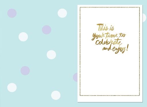 Gold and Glitter Happy For You Congratulations Card,