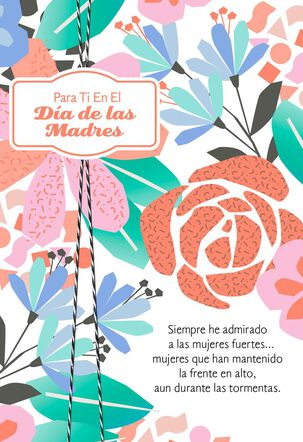 A Strong Woman Spanish-Language Mother's Day Card