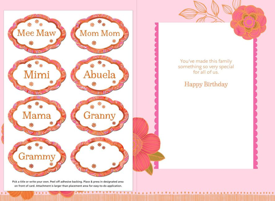 Special Names For Grandma With Personalization Stickers Birthday