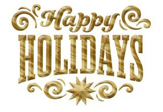 Happy Holidays Greeting Card,