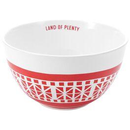Land of Plenty Medium Ceramic Patriotic Serving Bowl, , large
