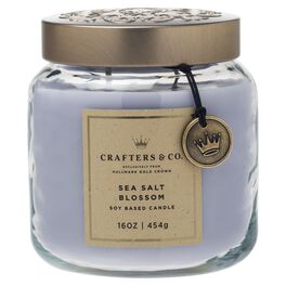 Crafters & Co. Sea Salt Blossom Candle, 16-oz, , large