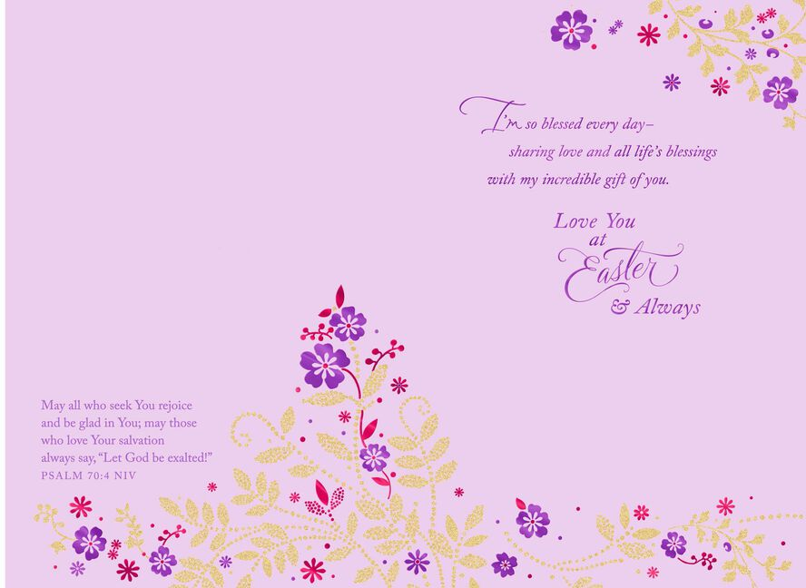 for the love of my life religious easter card greeting cards