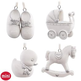 Welcome Baby Mini Ornaments, Set of 4, , large