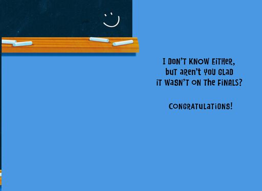 Final Test Question Graduation Card,
