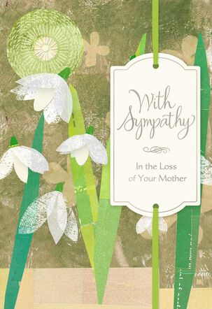Your Mom's Memory Lives On Sympathy Card