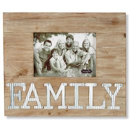 Mud Pie® Family Wood and Tin 5x7 Picture Frame, , large