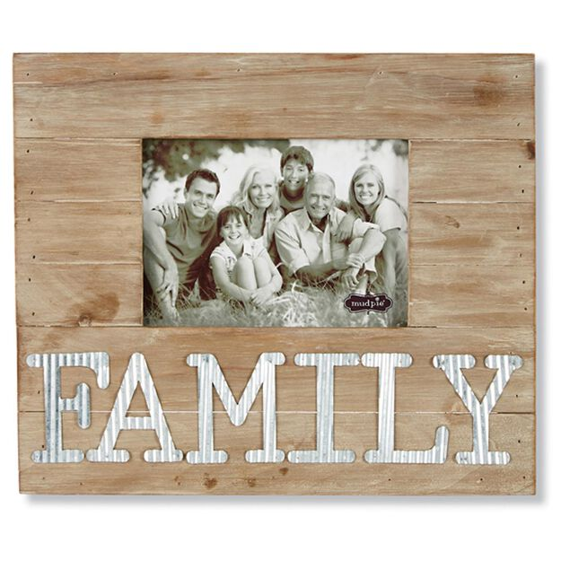 mud pie family wood and tin 5x7 picture frame - Mud Pie Picture Frames