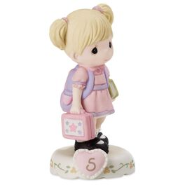 Precious Moments® Growing in Grace—Age 5 Blonde Girl Porcelain Figurine, , large