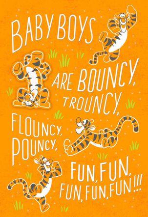 Winnie the Pooh Tigger New Baby Boy Card