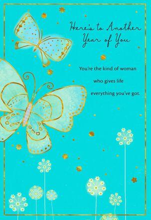 Butterflies on Blue Birthday Card