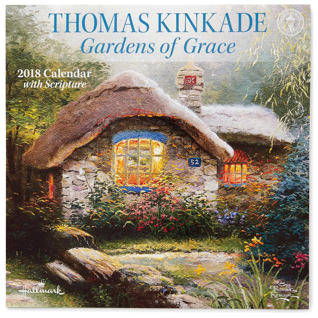 thomas kinkade gardens of grace 2018 wall calendar 12 month