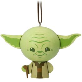 Star Wars™ Yoda™ Wood Ornament, , large