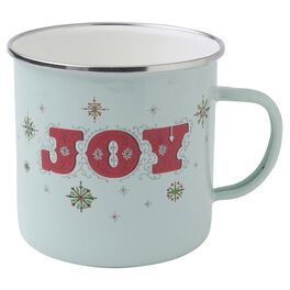 Holiday Vintage-Inspired Joy Snowflakes Mug, , large
